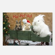Bunny Trio Christmas Postcards (Package of 8)
