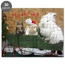 Bunny Trio Christmas Puzzle