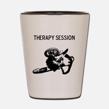 motocross therapy in session Shot Glass