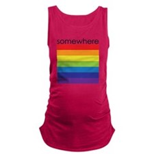 somewhere over the rainbow Maternity Tank Top