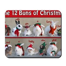 Twelve Buns of Christmas Mousepad