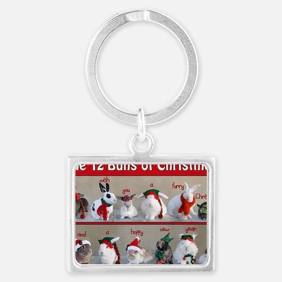 Twelve Buns of Christmas Landscape Keychain