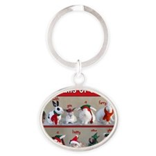 Twelve Buns of Christmas Oval Keychain