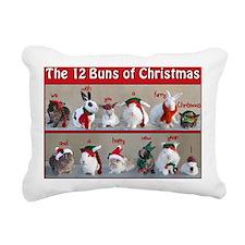 Twelve Buns of Christmas Rectangular Canvas Pillow