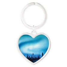 Winter Solstice Cards Heart Keychain