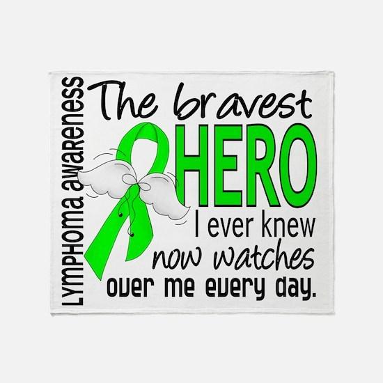 D Lymphoma Bravest Hero I Ever Knew Throw Blanket