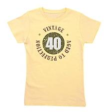 40th Vintage birthday Girl's Tee