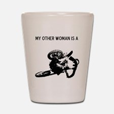 motocross my other woman is a Shot Glass