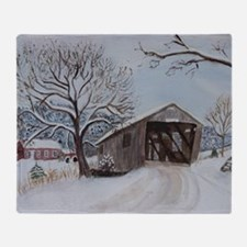 Covered Bridge Throw Blanket