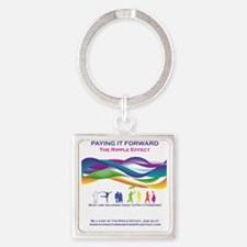 PIFRipple Square Keychain