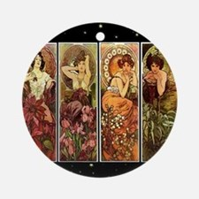 Mucha Round Ornament