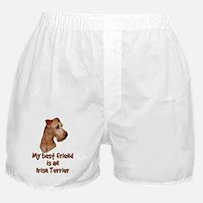 My best friend is an Irish Terrier Boxer Shorts