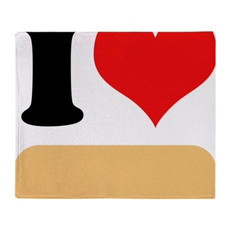 I heart Twinkies Throw Blanket