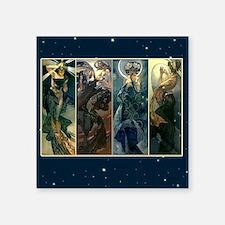 "Morning Night Moon Sun Square Sticker 3"" x 3"""
