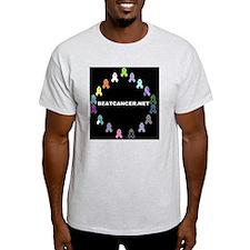 Black BEATCANCER.NET Logo T-Shirt
