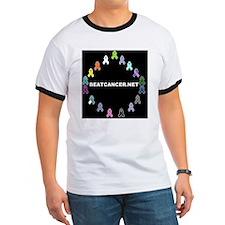 Black BEATCANCER.NET Logo T