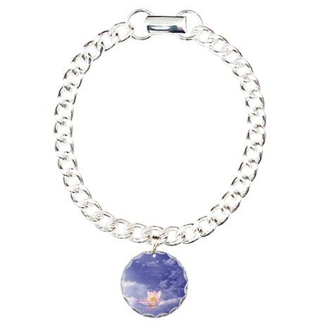 Sq-WORDS-Zen Lily Floati Charm Bracelet, One Charm