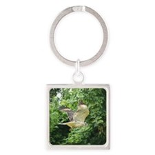 Red-tailed Hawk Square Keychain