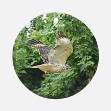 Red-tailed Hawk Round Ornament