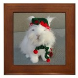 Christmas bunny Framed Tiles