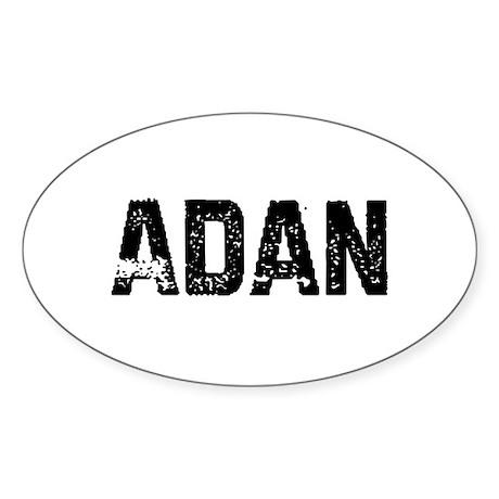 Adan Oval Sticker