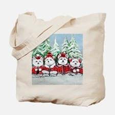 Christmas Westies Tote Bag