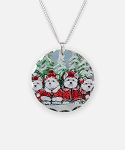 Christmas Westies Necklace