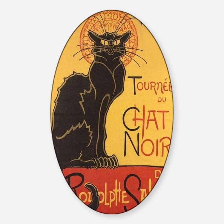 le chat noir bumper stickers car stickers decals more. Black Bedroom Furniture Sets. Home Design Ideas