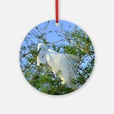 Great Egret Round Ornament