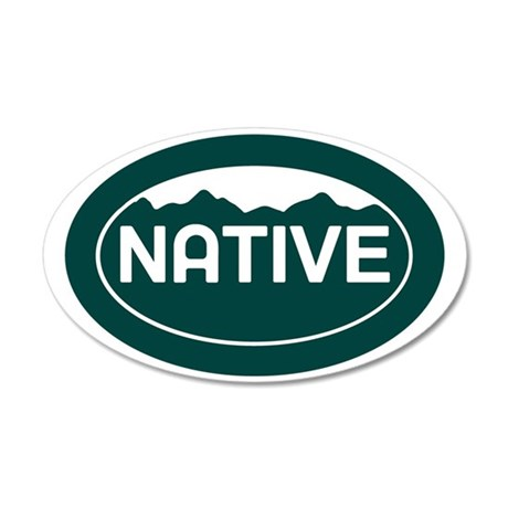 CO - Colorado - Native 35x21 Oval Wall Decal