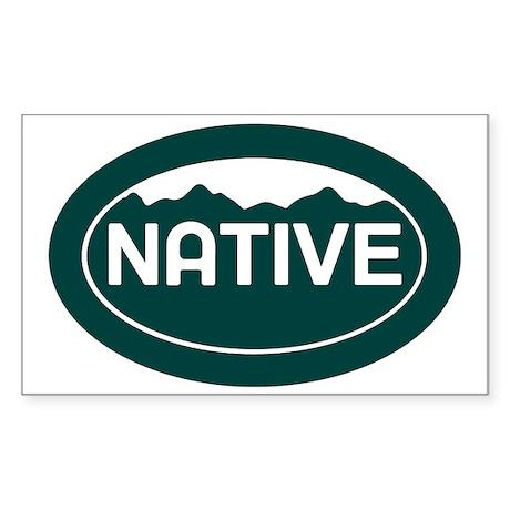 CO - Colorado - Native Sticker (Rectangle)