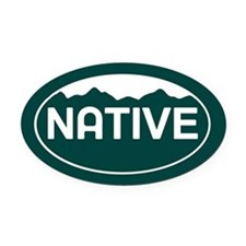 CO - Colorado - Native Oval Car Magnet
