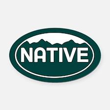 CO - Colorado - Native Oval Car Magnet