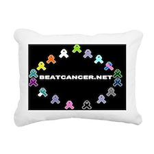 BEATCANCER.NET Banner Rectangular Canvas Pillow