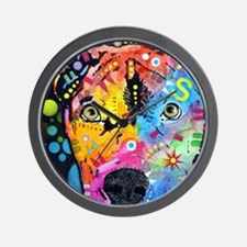 Smokey The Pitbull Wall Clock