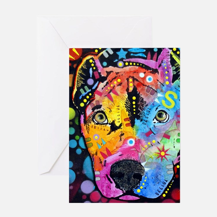 Smokey The Pitbull Greeting Card