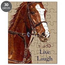 Live! Laugh! Ride! Horse Puzzle