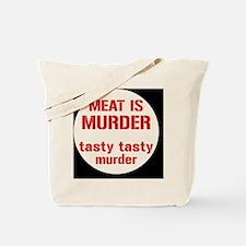 meatmurderbutton Tote Bag