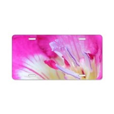 Freesia in macro Aluminum License Plate