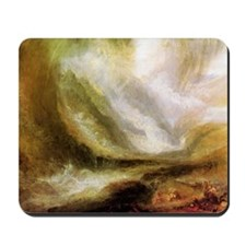 Turner Snowstorm and Avalanche Mousepad