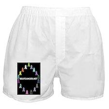 BEATCANCER.NET Framed Panel Print Boxer Shorts