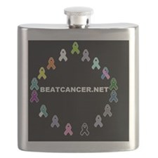 BEATCANCER.NET Yard Sign Flask