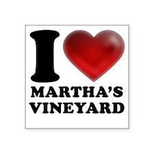 "I Heart Marthas Vineyard Square Sticker 3"" x 3"""