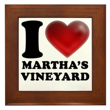 I Heart Marthas Vineyard Framed Tile