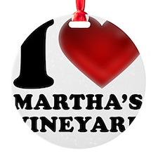 I Heart Marthas Vineyard Ornament