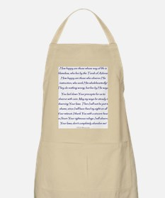 Aleph Hebrew letter with Psalm 119 verses Apron