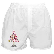Heart Christmas Tree Boxer Shorts