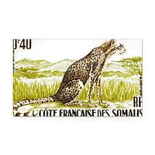 1958 Somalia Cheetah Cat Post Rectangle Car Magnet