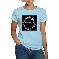 BEATCANCER.NET Small Poster T-Shirt