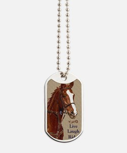 Live! Laugh! Ride! Horse Dog Tags